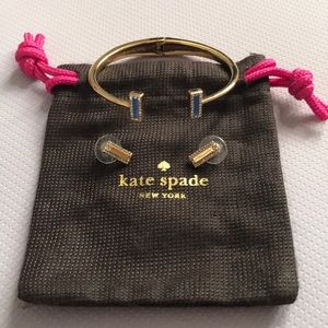 Kate Spade bangle with earrings